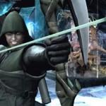 Stephen Amell como Arrow en Injustice: Gods Among Us