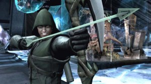 Stephen Amell como Arrow en Injustice: Gods Among Us