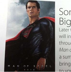 Escaneo de una revista con nueva imagen de El Hombre de Acero