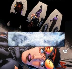 Muerte de Catwoman en JLA Nº 4