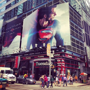 El Hombre de Acero en Times Square