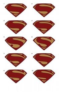 Diseños de logotipos para El Hombre de Acero