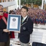 Récord Guinness de más gente como Superman