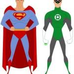 Superman y Linterna Verde inspirados en García López