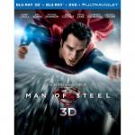 Carátula del Blu-ray 3D de El Hombre de Acero