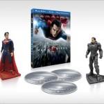 Blu-ray de El Hombre de Acero con figuras