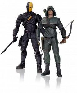 Figuras de acción de Deathstroke y Flecha Verde de Arrow