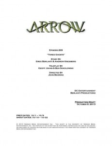 Título y créditos de Arrow 2x09