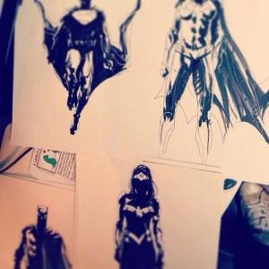 Supuestos conceptos de Jock para Batman/Superman