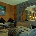 Habitación de hotel temática sobre Batman