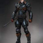 Diseño de Deahstroke para Batman: Arkham Origins