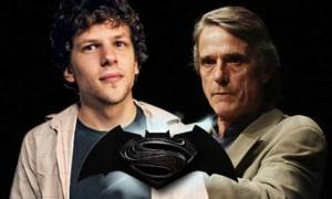 Jesse Eisenberg y Jeremy Irons serán Luthor y Alfred en Batman/Superman
