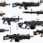 Diseños de armas y personajes para Batman: Arkham Origins