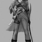 Diseño conceptual para Nyssa al Ghul en Arrow