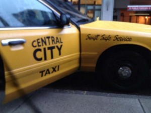 Taxi de Central City para The Flash