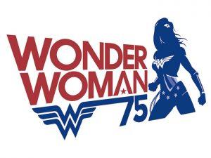 Logotipo 75º aniversario de Wonder Woman