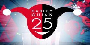 Logotipo 25º aniversario de Harley Quinn